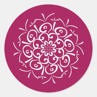 Wine Mandala Round Sticker