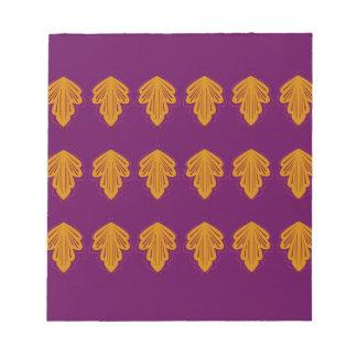Wine mandalas gold notepad