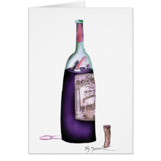 wine master, tony fernandes greeting card