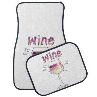 WINE, MORE WINE, EVEN MORE WINE CAR MAT