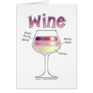 WINE, MORE WINE, EVEN MORE WINE CARD