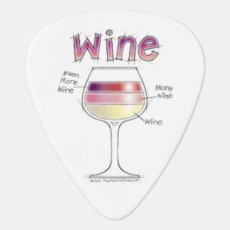 WINE, MORE WINE, EVEN MORE WINE GUITAR PICK