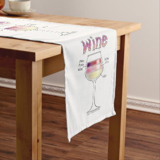 WINE, MORE WINE, EVEN MORE WINE SHORT TABLE RUNNER