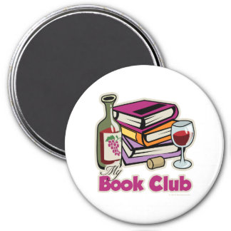 Wine: My Book Club 7.5 Cm Round Magnet