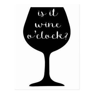 Wine O'Clock Postcard