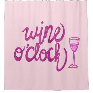 Wine O'Clock Shower Curtain