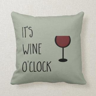 Wine O'Clock Throw Cushion