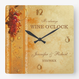 Wine O'Clock Wedding Clock