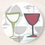 wine panel coaster