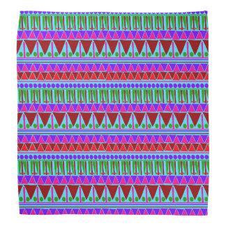 Wine Pink Aztec Stripes Pattern Boho Style Ethnic Bandana
