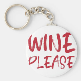 wine please (in red) key ring