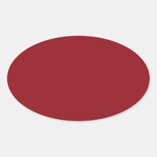 Wine Polka Dot Oval Stickers
