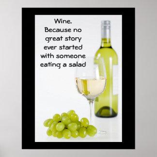 Wine. Poster