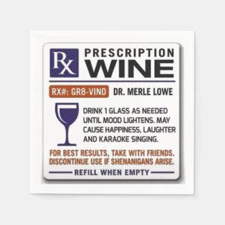 Wine Prescription Napkins Paper Napkin