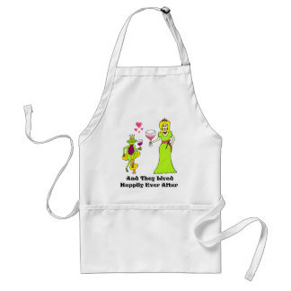 Wine Prince & Princess ...Happily Ever After Standard Apron