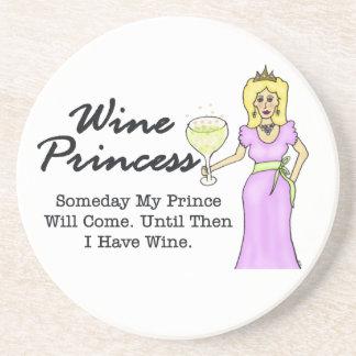 """Wine Princess """"Someday My Prince"""" Coaster"""