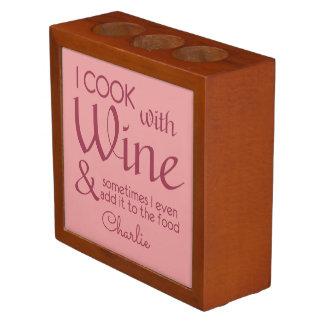 Wine Quote custom name desk organizer