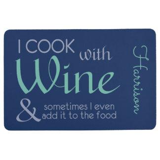 Wine Quote custom name floor mat