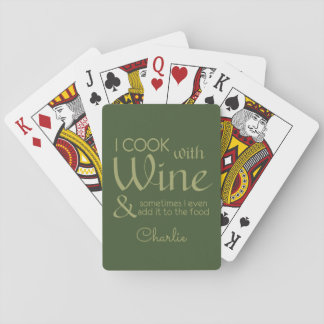 Wine Quote custom name playing cards