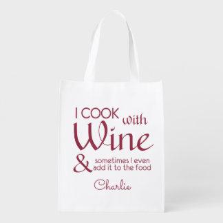 Wine Quote custom name reusable bag