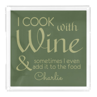 Wine Quote custom name serving trays
