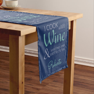 Wine Quote custom name table runner