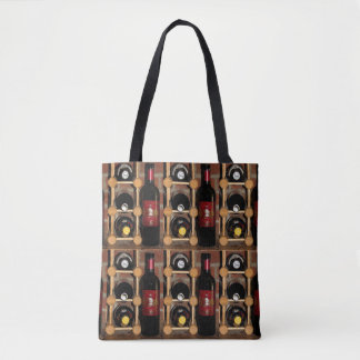 Wine Rack Abstract Pattern Tote Bag