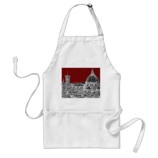 Wine red Florence dome Standard Apron
