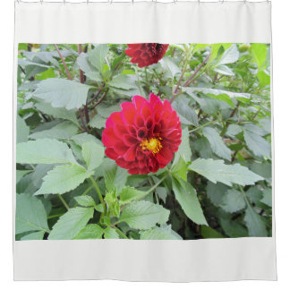 Wine Red Flower Shower Curtain