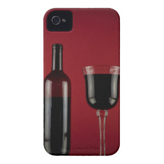 Wine red glass bottle iPhone 4 cover