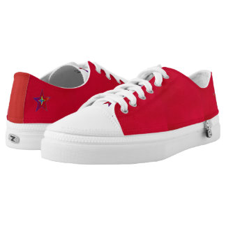 Wine-Red Star sneakers