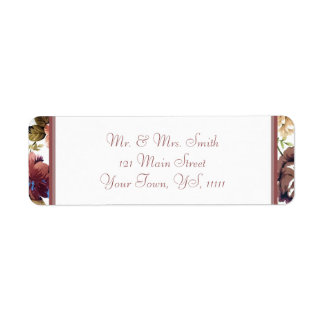 Wine Rose Return Address Return Address Label