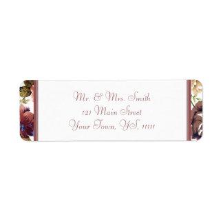 Wine Rose Return Address Return Address Label