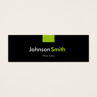 Wine Sales - Mint Green Compact Mini Business Card