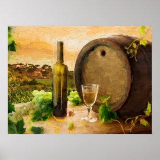 Wine Scene in the Vineyard Posters