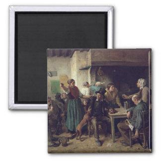 Wine Shop Monday, 1858 Square Magnet