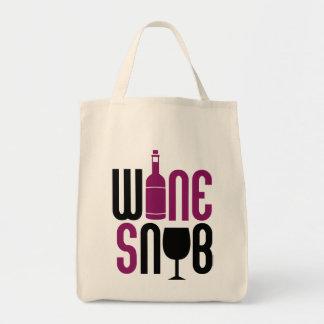 Wine Snob Tote Bags