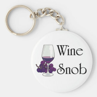 Wine Snob T-shirts and Gifts. Key Ring