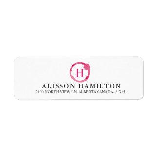 Wine Stain | Personalized Return Address Return Address Label