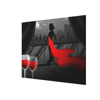 _wine stretched canvas print