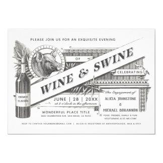 Wine & Swine Invitations | Supreme Vintage