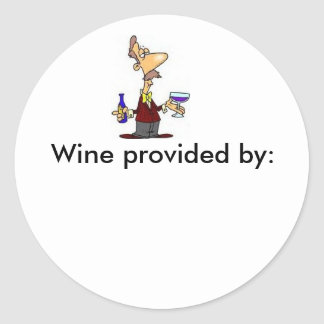 Wine_Taster, Wine provided by: - Customized Round Sticker