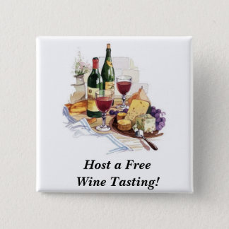 wine-tasting-7, Host a Free Wine Tasting! 15 Cm Square Badge
