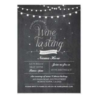 Wine Tasting Birthday Party Chalk ANY AGE Invite