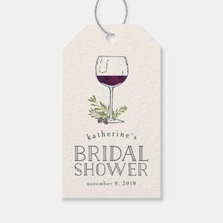 Wine Tasting Bridal Shower Favor Tags