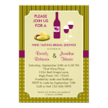 Wine Tasting Couple's Bridal Shower Invitation