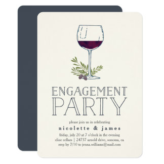 Wine Tasting Engagement Party Invitation