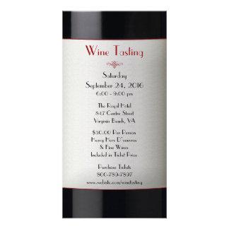 Wine Tasting Event Invitation Custom Photo Card