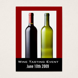 Wine Tasting Event Mini Invite Cards