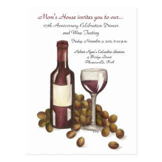 Wine Tasting Event Postcard Invitation